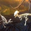 Pachycephalosaur with Dilong paradoxus